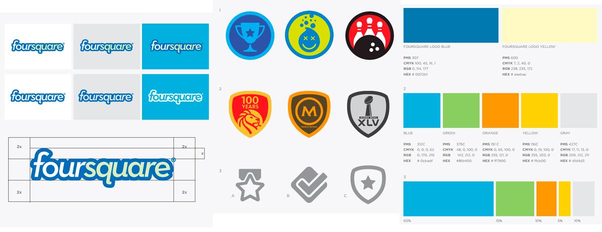 разделы брендбука foursquare