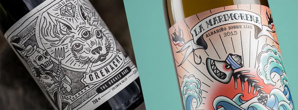 Дизайн вина - панк-стиль
