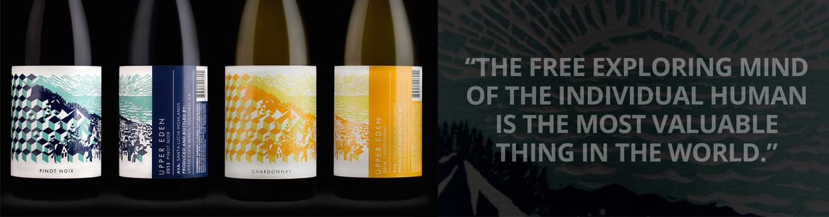 Дизайн и слоган вина