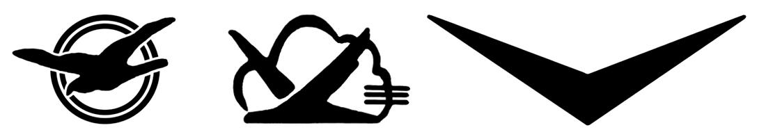 Логотипы электроники радиозавода «Темп»