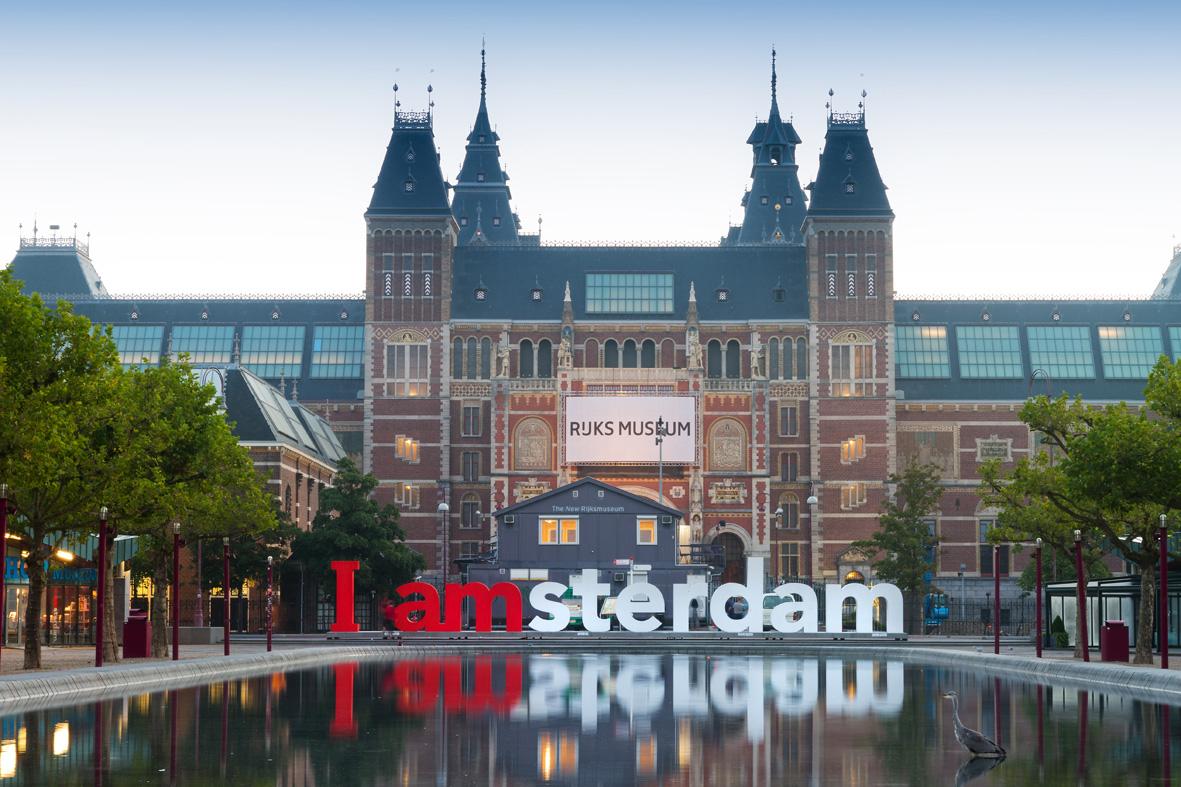 Логотип Амстердама в городе
