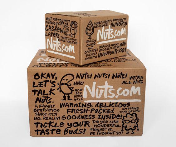 Подкрепляющий текст на упаковке орехов