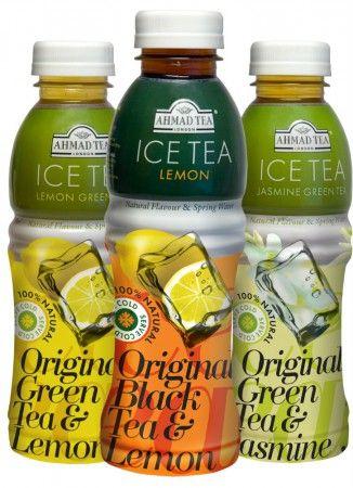 Дизайн бутылки холодного чая Ahmad Tea