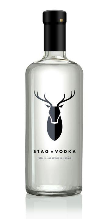 Stag Vodka дизайн бутылки