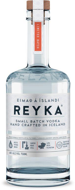 Текст на этикетке исландской водки Reyka