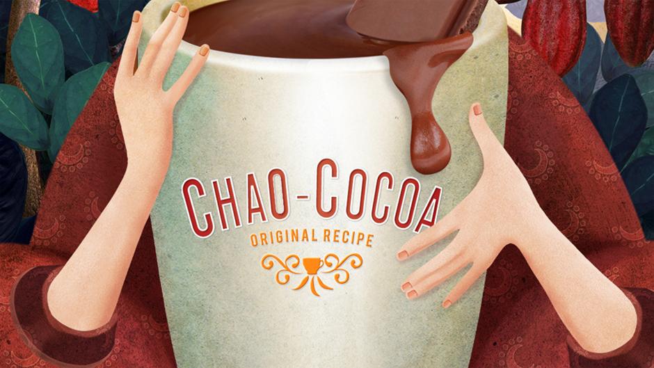 Авторские изображения на упаковке Chao-Cocoa