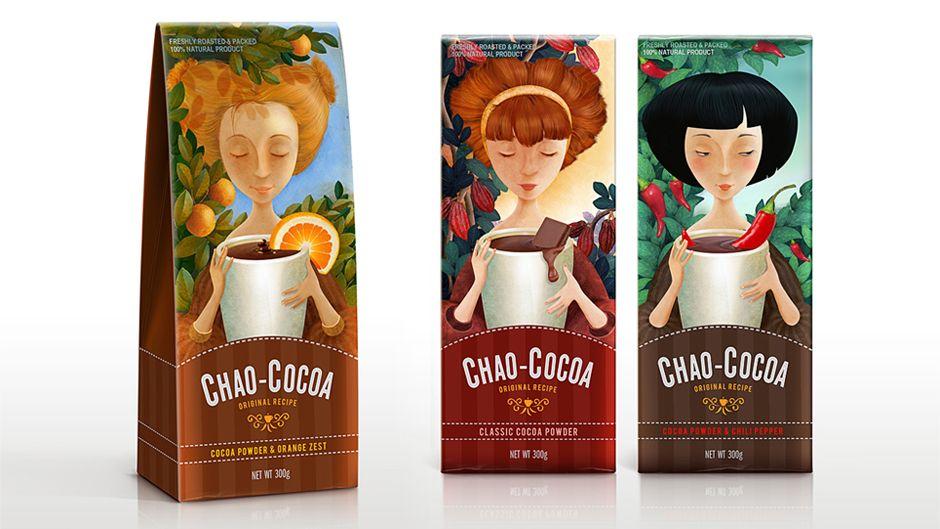 Линейка Chao-Cocoa в картонной упаковке